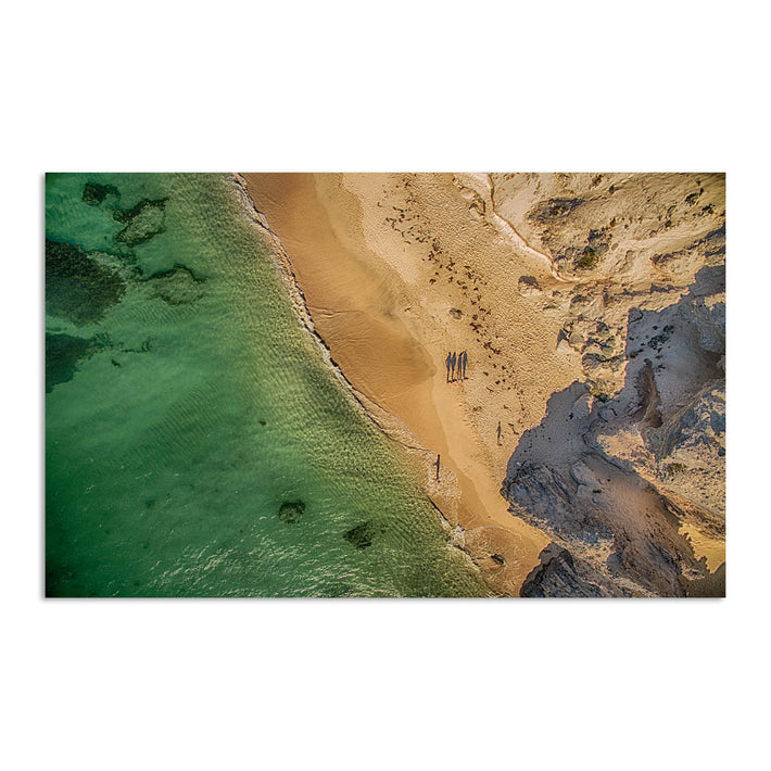 Aerial view of Hamelin Bay in Western Australia at sunset