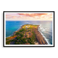 Cape Leeuwin Lighthouse in Western Australia framed in black