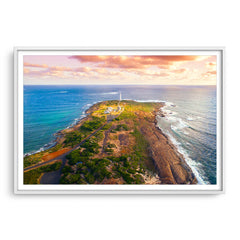 Cape Leeuwin Lighthouse in Western Australia framed in white