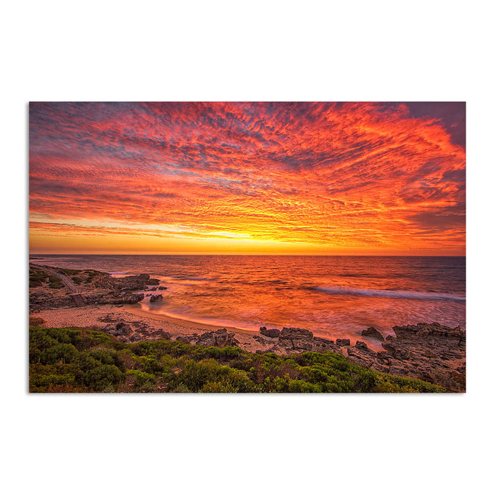 Incredible sunset over Bennion Beach in Perth, Western Australia
