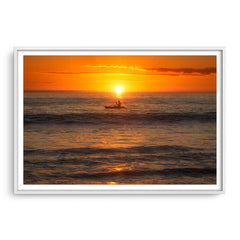 A warm, balmy night on the coast of Perth, Western Australia framed in white