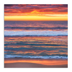 Multi-layered sunset at Mettams Pool in Perth, Western Australia