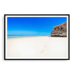 Yanchep Beach on a hot summers day in Western Australia framed in black