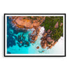 Idylic beach at Thistle Cove in Cape Le Grand, Esperance, Western Australia framed in black