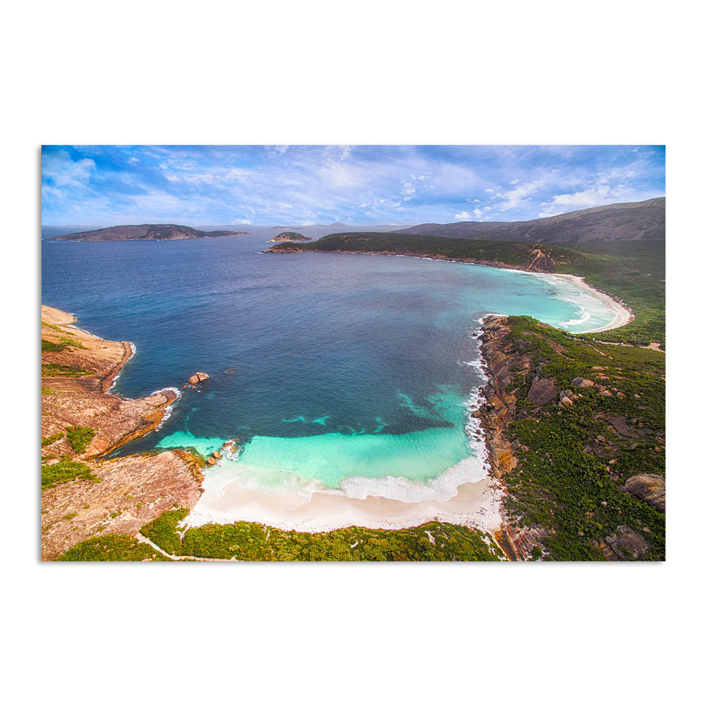 Aerial view of Little Hellfire Bay in the Cape Le Grand National Park, Esperance, Western Australia