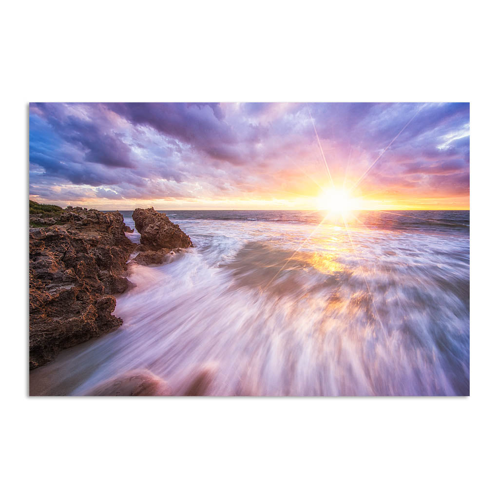 Sunset at watermans bay in Perth, Western Australia