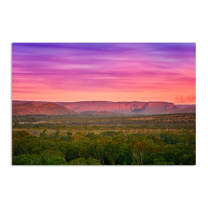 Colourful layered sky over the El Questro Wilderness Park in the Kimberley, Western Australia