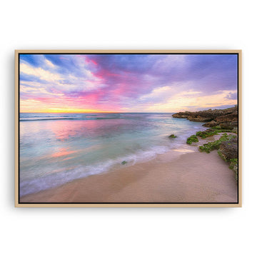 Pastel coloured sunset at Mettams Pool in Perth, Western Australia