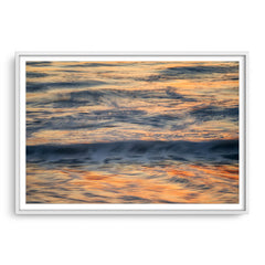 Abstract ocean waves in Western Australia framed in white