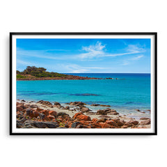 Point Picquet in Western Australia framed in black