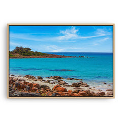 Point Picquet in Western Australia framed canvas in raw oak