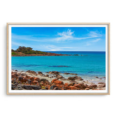 Point Picquet in Western Australia framed in raw oak