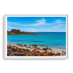 Point Picquet in Western Australia framed in white