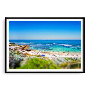 Miniature view of Mettams Pool in Perth, Western Australia framed in black