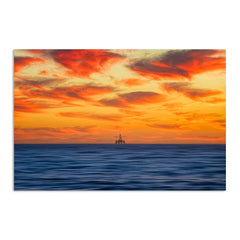 Armageddon oil rig at sunset in Perth, Western Australia