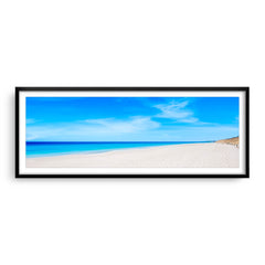 Summer day at Mullaloo Beach in Perth, Western Australia framed in black