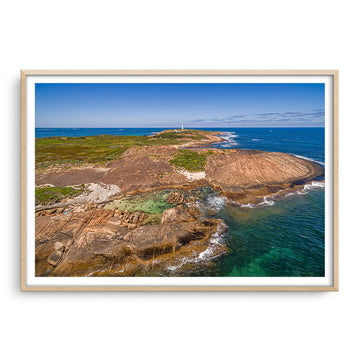 Aerial view of Cape Leeuwin in Augusta, Western Australia