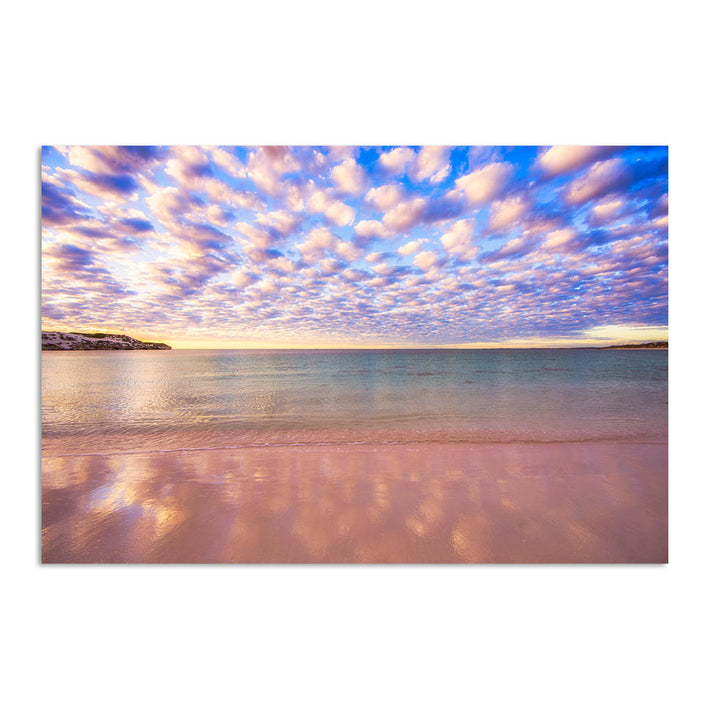Cotton candy clouds over Sandy Cape in Western Australia