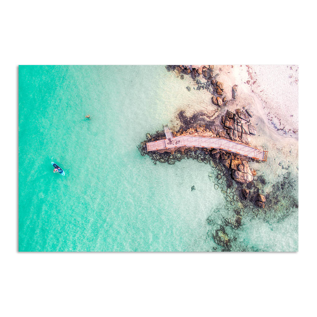 Aerial view of SUP in Augusta, Western Australia