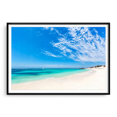 Longreach Bay on Rottnest Island in Western Australia framed in black