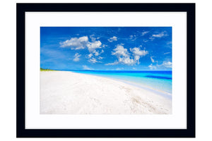 Quindalup Beach near Dunsborough, Western Australia framed in black