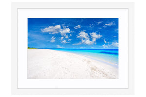 Quindalup Beach near Dunsborough, Western Australia framed in white