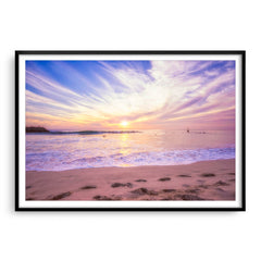 Soft pastel sunset over Cottesloe in Western Australia framed in black