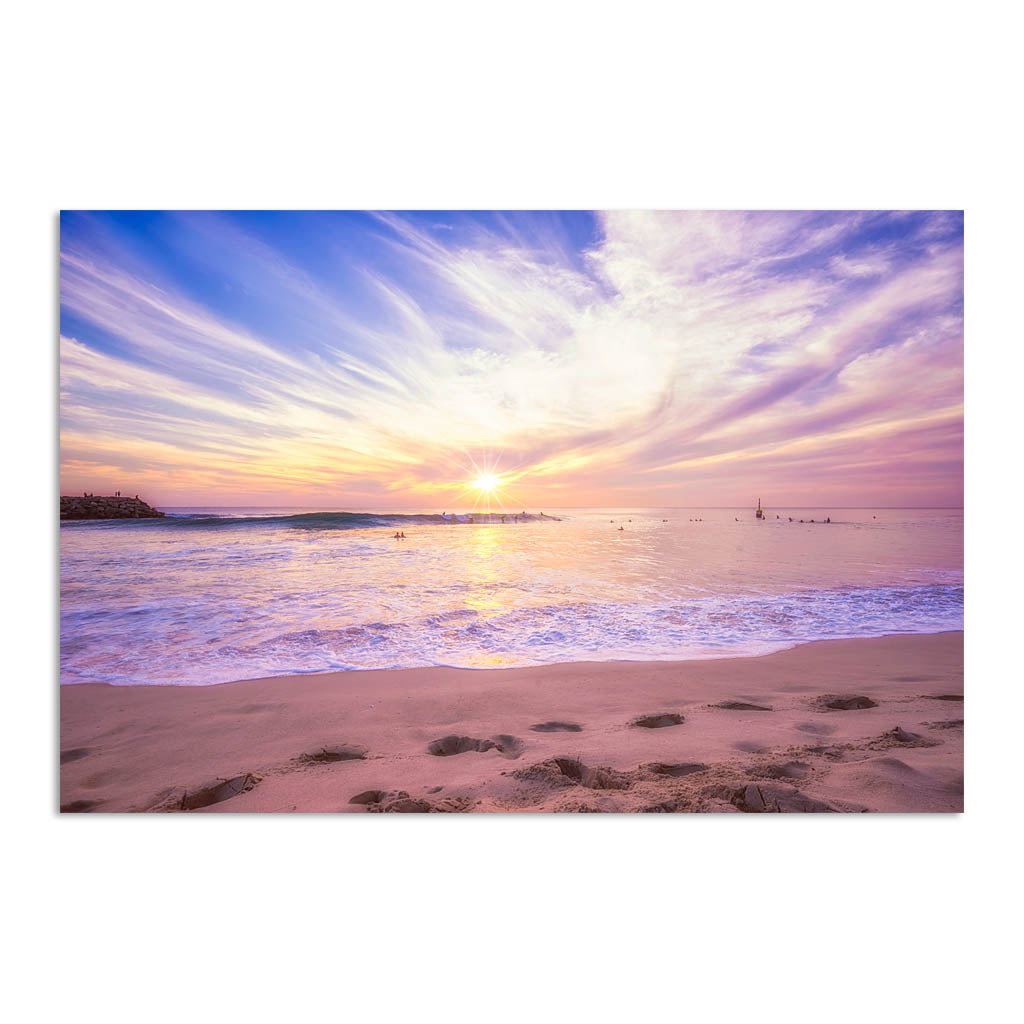 Soft pastel sunset over Cottesloe in Western Australia