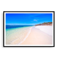 Sandy Cape Beach in Western Australia framed in black