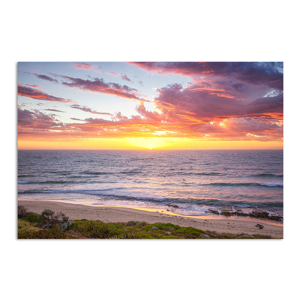Sunset surf at North Beach, Western Australia