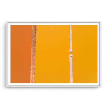 Abstract aerial view of Hutt Lagoon in Western Australia