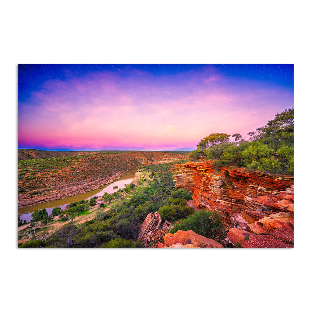Kalbarri Gorge at sunset in Western Australia