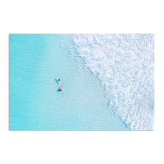 Aerial view of surfers at Trigg In Perth, Western Australia