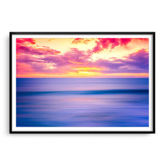 Sunset over Bennion Beach in Perth, Western Australia framed in black