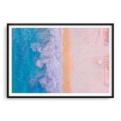 Aerial view of Sorrento Beach in Perth, Western Australia framed in black