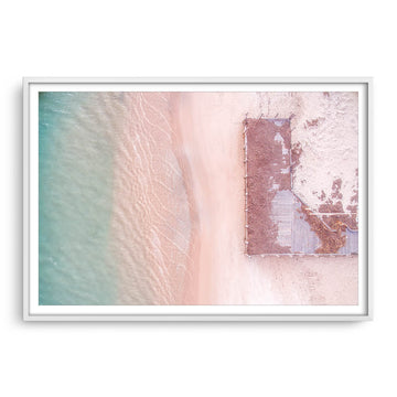 Aerial view of Port Gregory Jetty in Western Australia