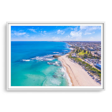 Aerial view of Trigg Beach in Perth, Western Australia