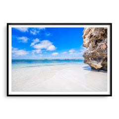 Sandy Cape on the Coral Coast of Western Australia framed in black
