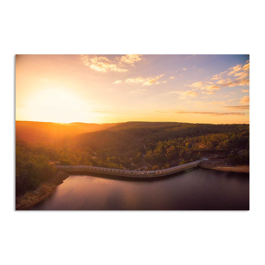 Sunset over Collie Dam in Western Australia