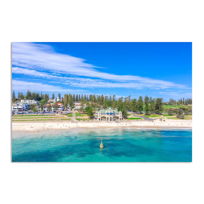 Aerial view of Cottesloe Beach in Perth, Western Australia
