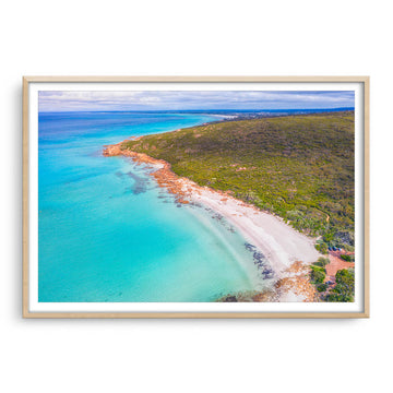 Aerial view of Castle Bay in SW of Western Australia