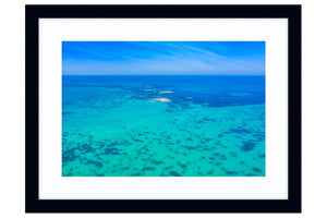 Tiny Island off the Perth Coastline in Western Australia framed in black