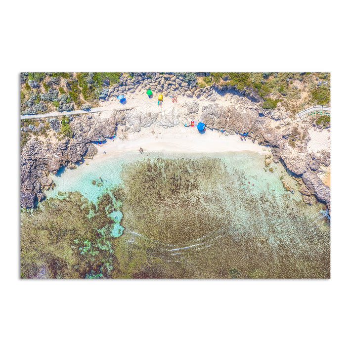 Aerial view of Mettams Pool in Perth, Western Australia
