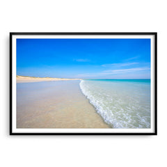 Cable Beach in Broome, Western Australia framed in black