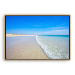 Cable Beach in Broome, Western Australia framed canvas in raw oak