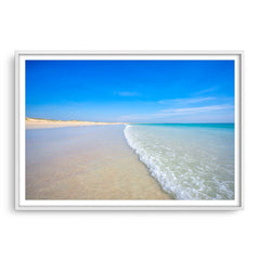 Cable Beach in Broome, Western Australia framed in white