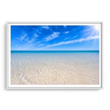 Crystal clear water as far as the eye can see. Turquoise Bay on the Ningaloo Reef.