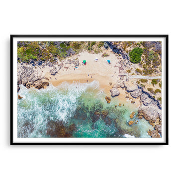 Aerial view of Bennion Beach on Perth, Western Australia