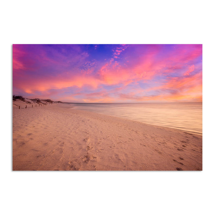 Sunset over the beach at Turquoise Bay on the Cape Range, Western Australia