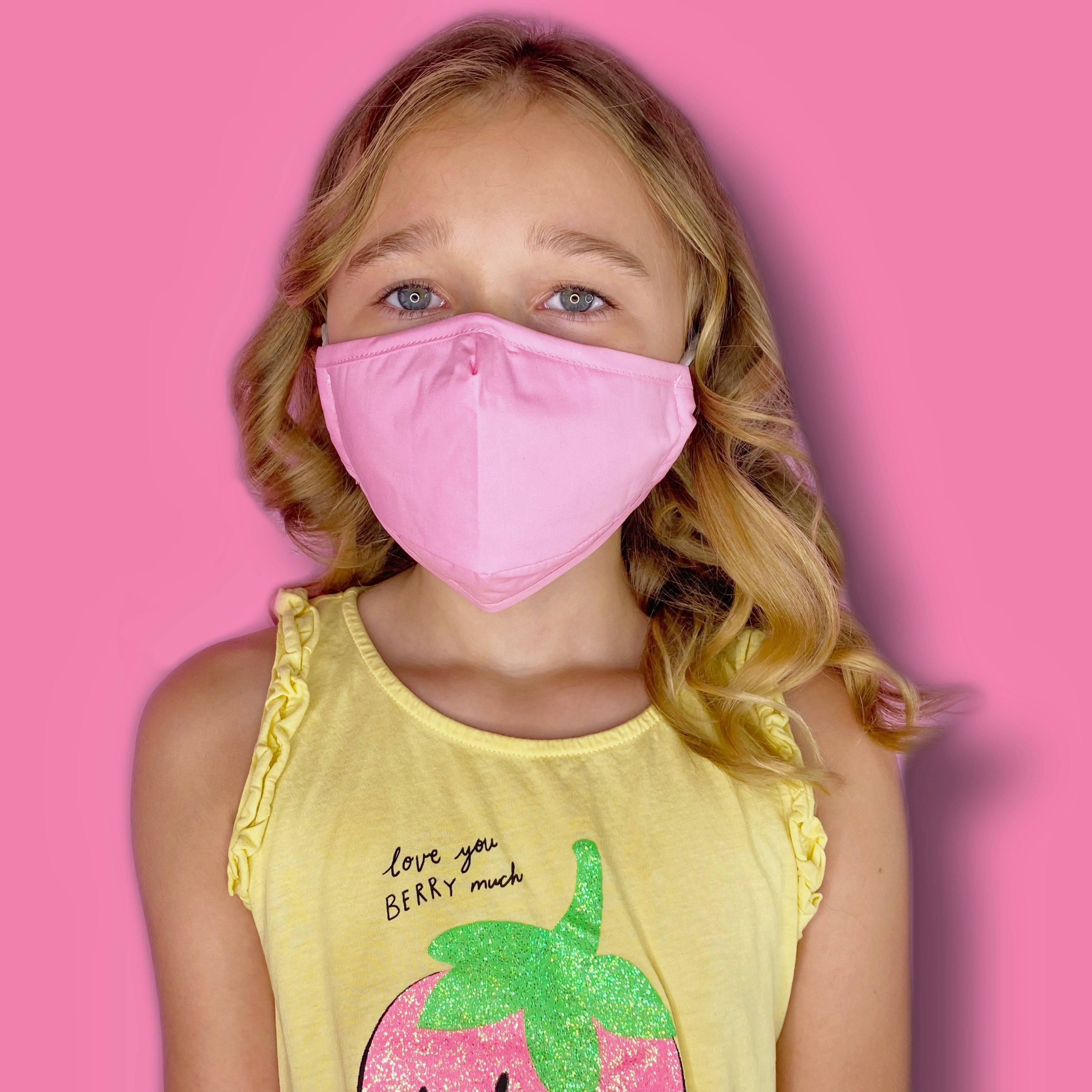 Premium Reusable Kids Cotton Face Mask Pink| The Peoples Mask